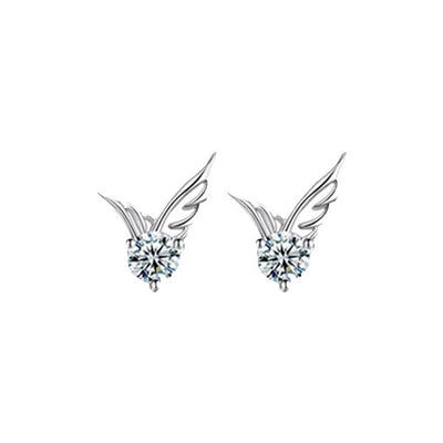 Angel Wings Silver Plated Earrings