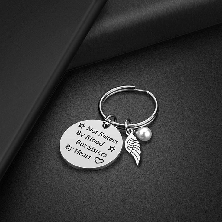 Sisters by Heart Keychain