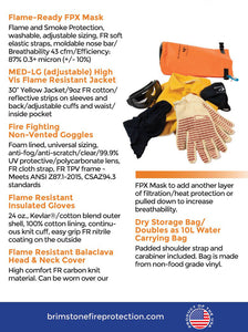 Personal Fire Protection Kit PPE Plus- blue specs