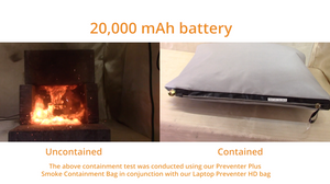Battery Fire & Smoke Containment Kit - Small (Tablet/ Phone) - Preventer™ and Preventer Plus™ - 10,000 mAh Tested