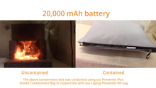 Battery Fire and Smoke Containment Kit - Large Laptop Preventer™ HD and Preventer Plus™  - 20,000 mAh Tested