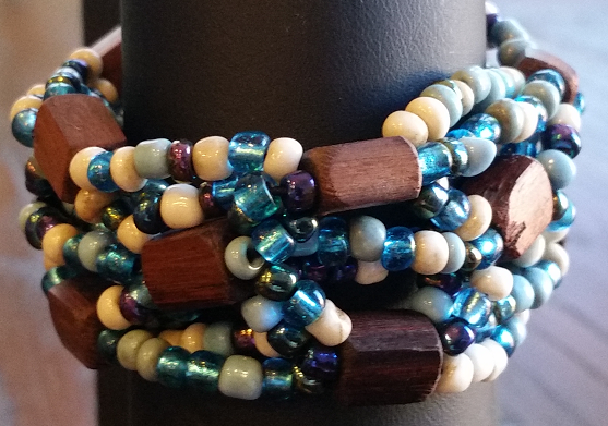 Balinese Wood Stretch Bracelet