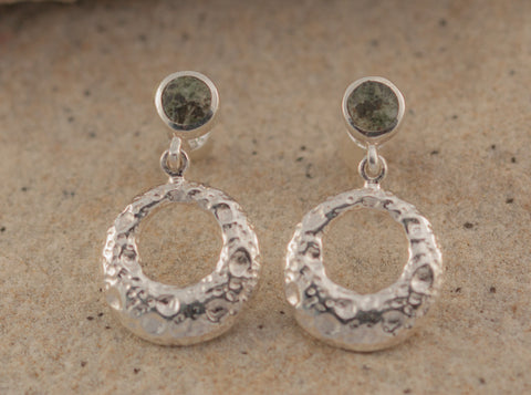 Preseli Bluestone Stonehenge Moon stud Earrings