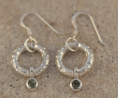 Preseli Bluestone Moon Circles drop Earrings