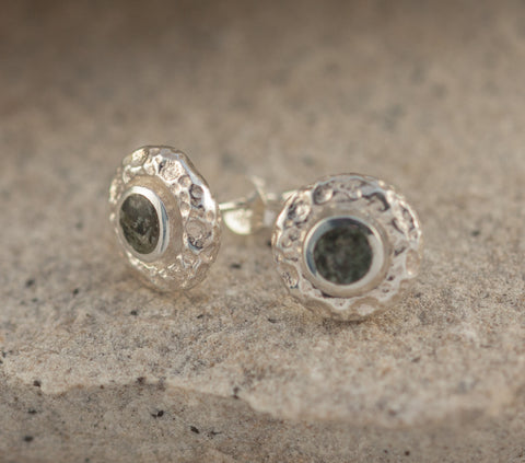 Preseli Bluestone Full Moon Stud Earrings