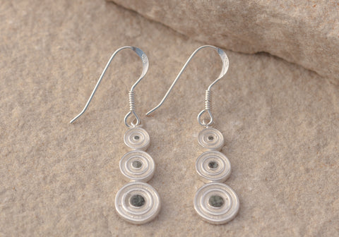 Preseli Bluestone Stonehenge Circle Drop Earrings