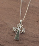 Preseli Bluestone Three Trist Celtic Cross Pendant