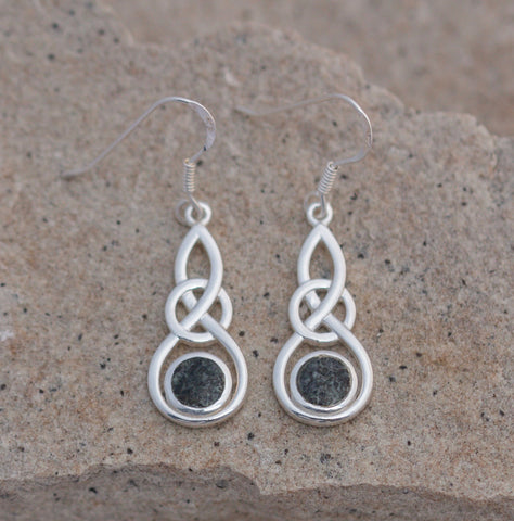 Preseli Bluestone Celtic round knot earrings