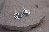 Beautifully handcrafted Preseli bluestone earrings - the same stone found at Stonehenge