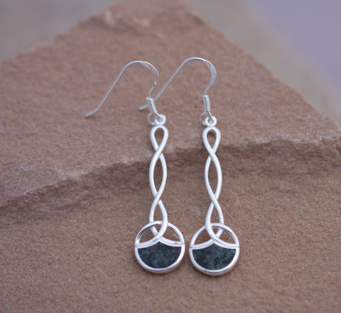Preseli Bluestone Celtic rope earrings