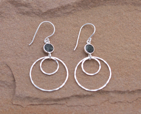 Preseli Bluestone Circle Drop Earrings