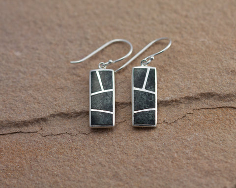 Stonehenge Preseli Bluestone Pillar Drop Earrings