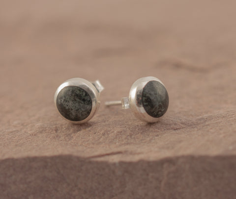 Preseli Bluestone New Moon stud earrings