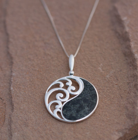 Preseli bluestone balance pendant set in sterling silver