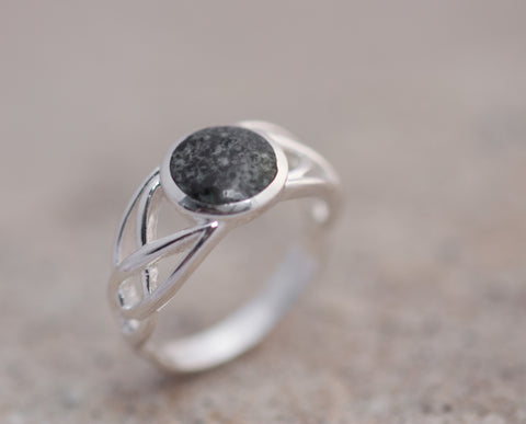 Preseli Bluestone Celtic weave ring