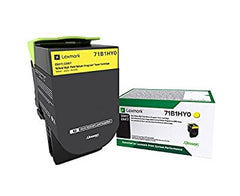 Lexmark CS/CX 417, 517 Yellow High-Yield Return Program Toner Cartridge