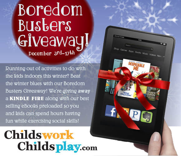 Winter Boredom Busters Kindle Fire Giveaway!