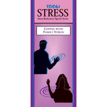 Teen Stress Pamphlet: Coping with Family Stress 25 pack product image