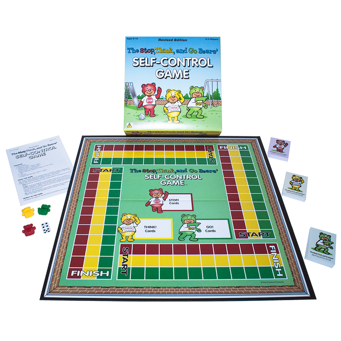 The Stop, Think, and Go Bears Self Control Board Game - Revised