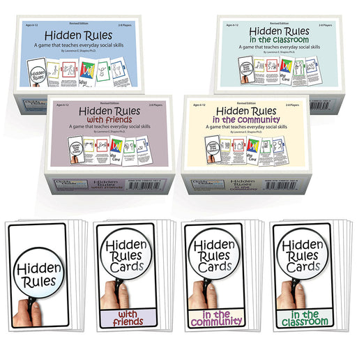 Hidden Rules Card Game Set of 4