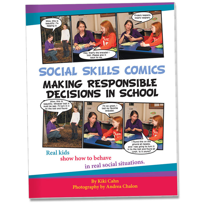 Social Skills Comics for Kids: Making Responsible Decisions in School product image