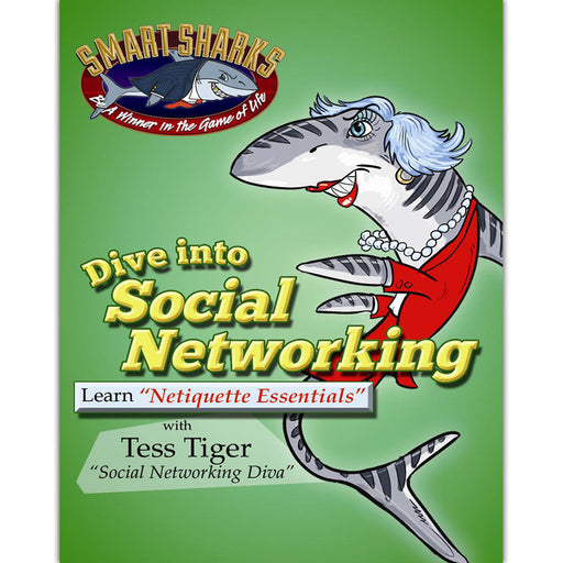 Smart Sharks Dive into SOCIAL NETWORKING: Netiquette Essentials Card Game product image