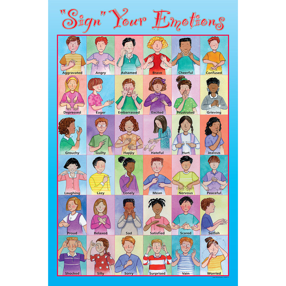 Sign Your Emotions Poster Childswork Childsplay