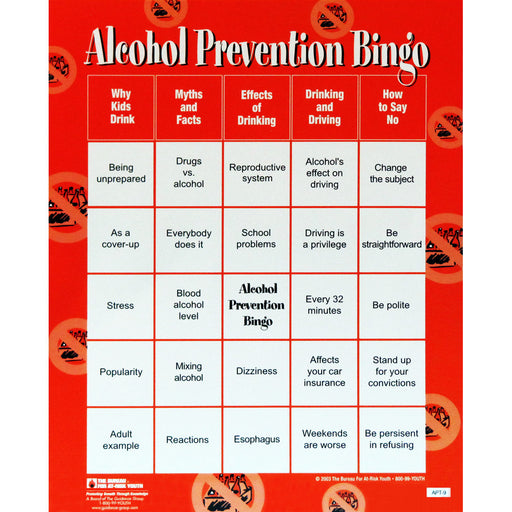 Alcohol Prevention Bingo Game product description