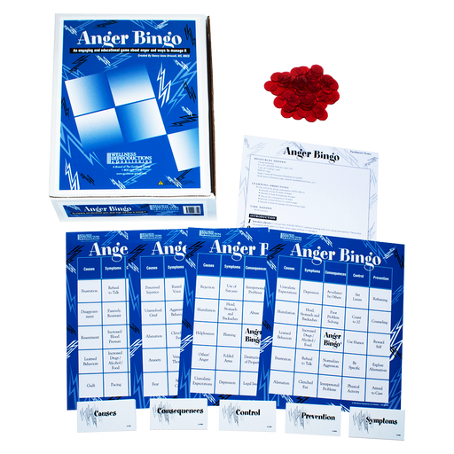 Anger Bingo Game for Adults