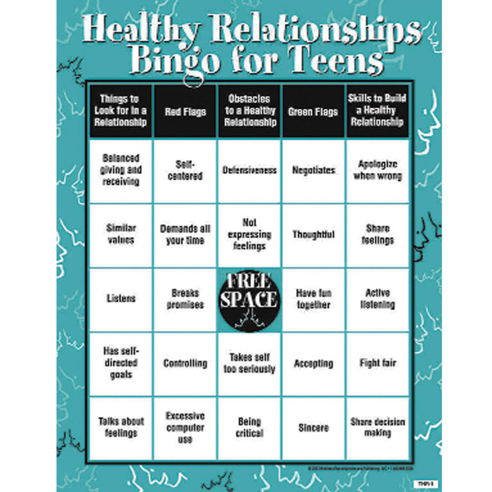 worksheet Healthy Relationships Worksheet healthy relationships bingo game for teens childsworkchildsplay product image