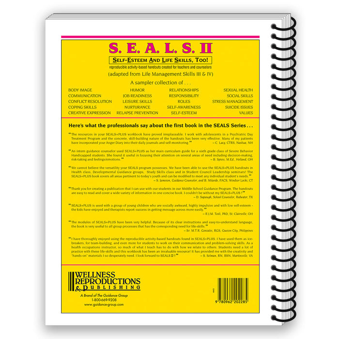 S.E.A.L.S. II (Self-Esteem and Life Skills) Book