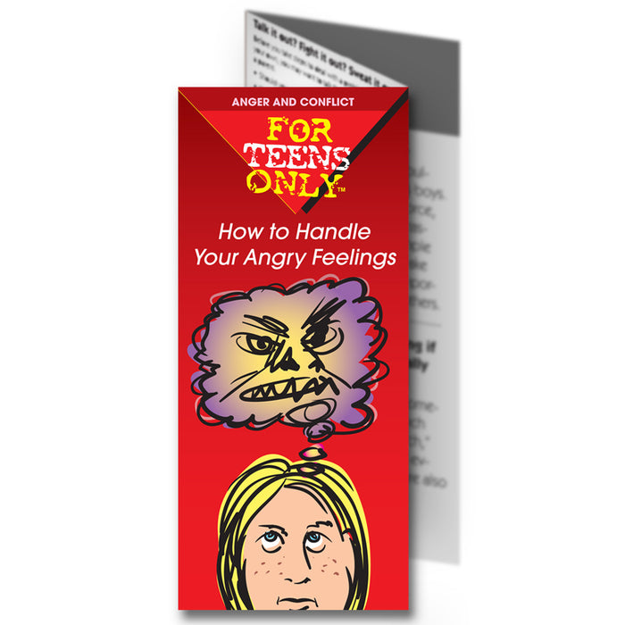 For Teens Only Pamphlet: How to Handle Your Angry Feelings 25 pack product image