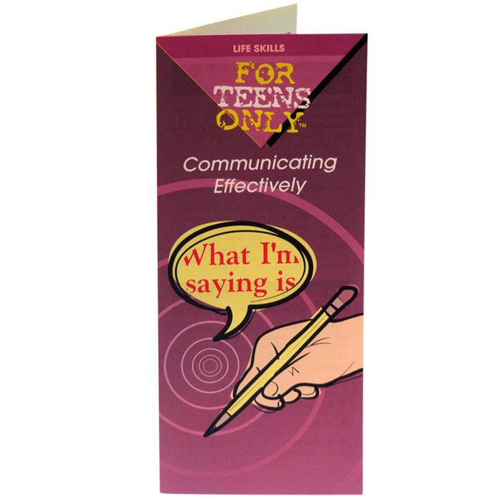 For Teens Only Pamphlet: Communicating Effectively 25 pack product image