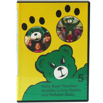 Kelly Bear Teaches About Healthy Living Habits and Refusal Skills DVD product image