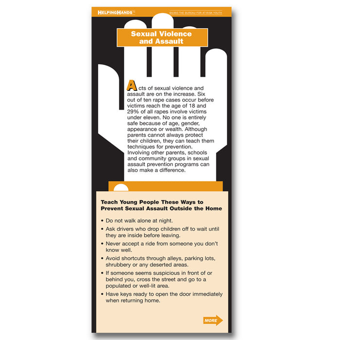 Helping Hands Card: Sexual Violence and Assault 25 pack product image