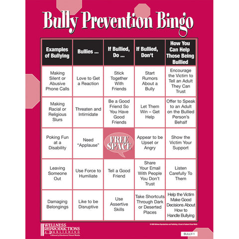 Bullyingbully prevention bully prevention bingo game product image publicscrutiny Choice Image