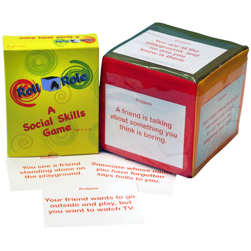 Roll A Role: A Social Skills Game Cubes & Cards