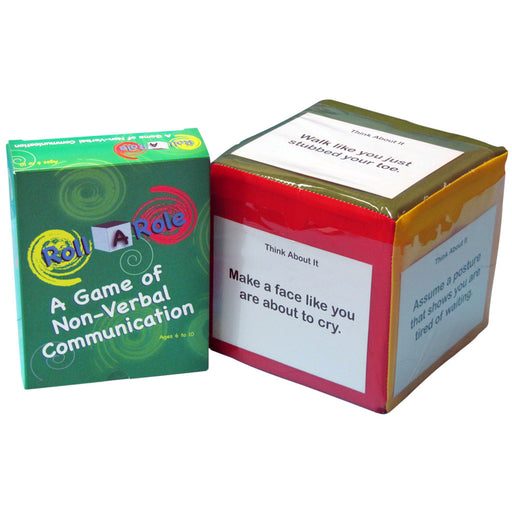 Roll A Role: A Game of Non Verbal Communication Cubes & Cards product image