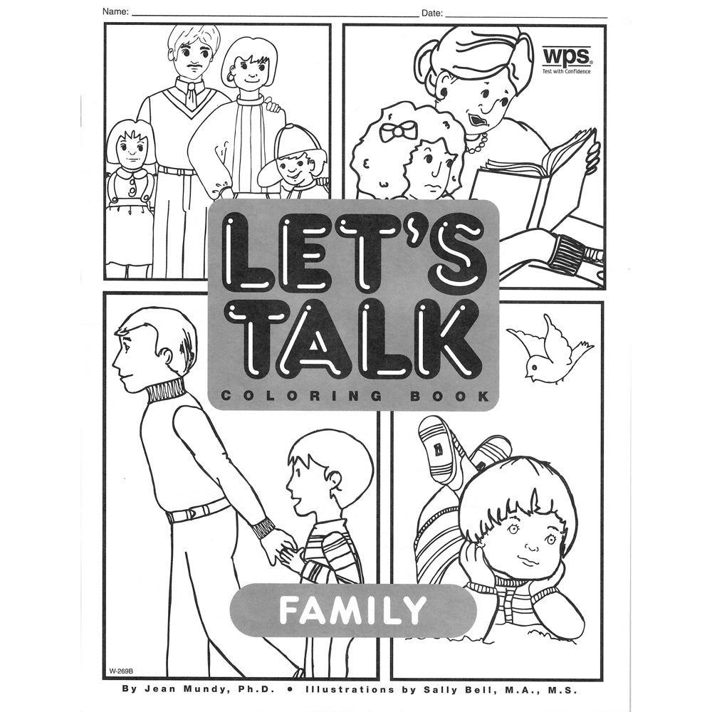 Let's Talk Coloring Book - Family, set of 6