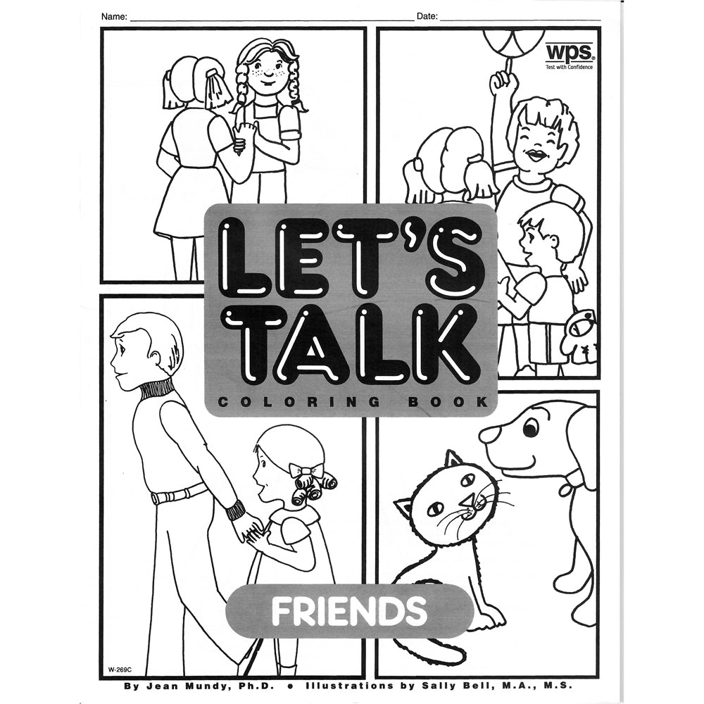 Let's Talk Coloring Book - Friends, set of 6