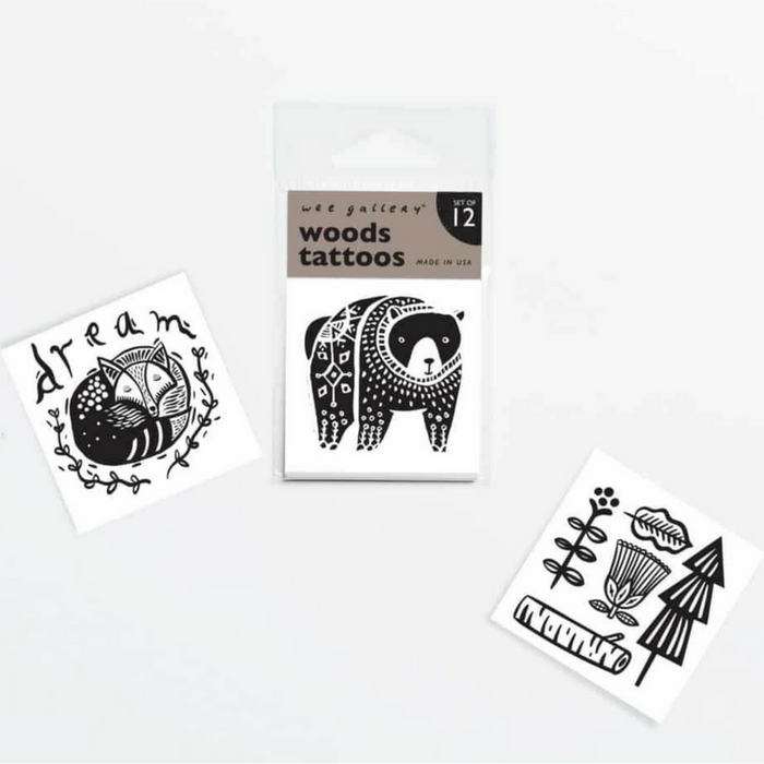 Woods-Themed Temporary Tattoos - Gifted and Present