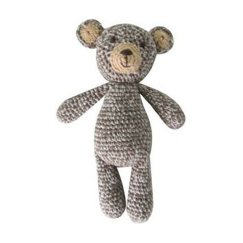 Hand-Crocheted Teddy Rattle
