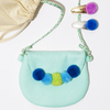 Pom Pom Purse & Barrette Gift Set