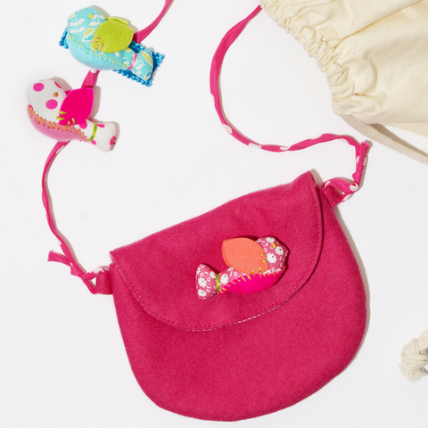 Pink Birdie Purse & Barrette Gift Set