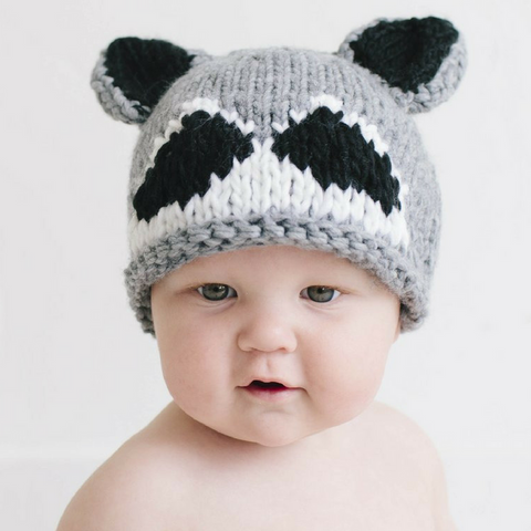 Knitted Raccoon Hat