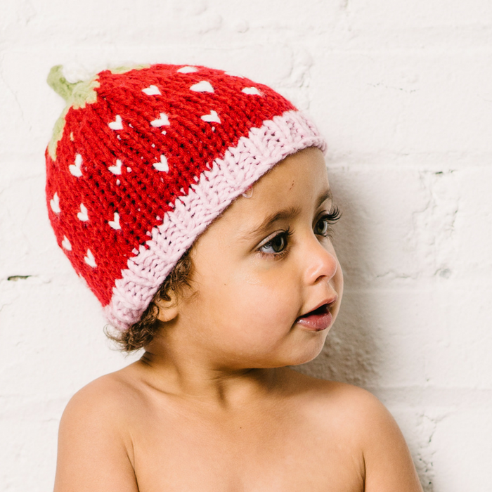 Knitted Strawberry Hat - Gifted and Present
