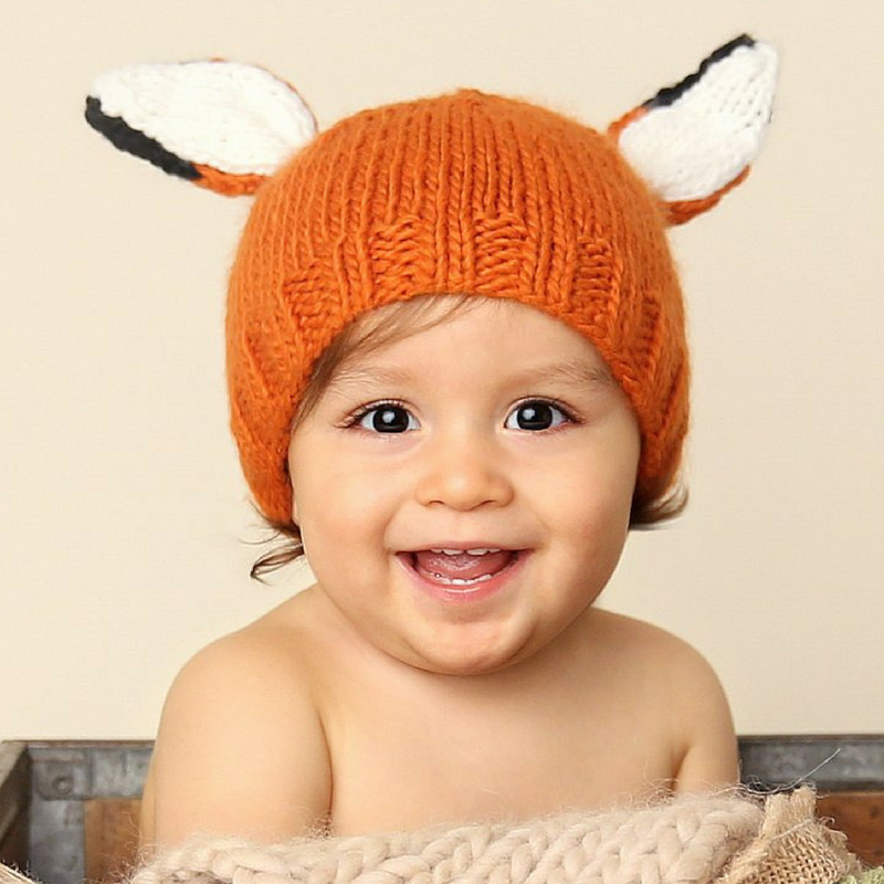 The Blueberry Hill Knitted Fox Hat Baby Gift – Gifted and Present 94a215e0b01