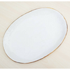 Handmade Ceramic Serving Platter - White & Gold