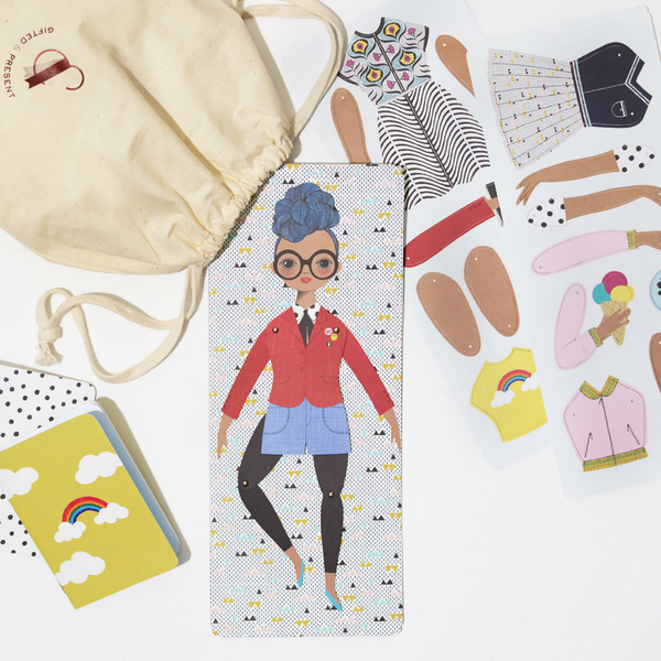 Paper Doll & Notebook Gift Set - Rosemarie