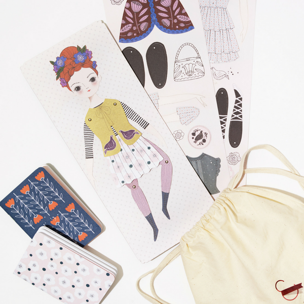 Paper Doll & Notebook Gift Set - Florence